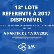 Disponível o 13º lote do Parecer Técnico 2017 LDB