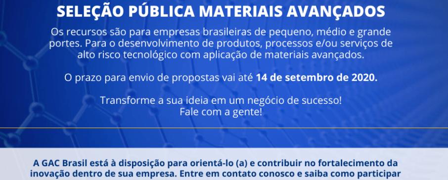 FINEP lança edital de materiais avançados