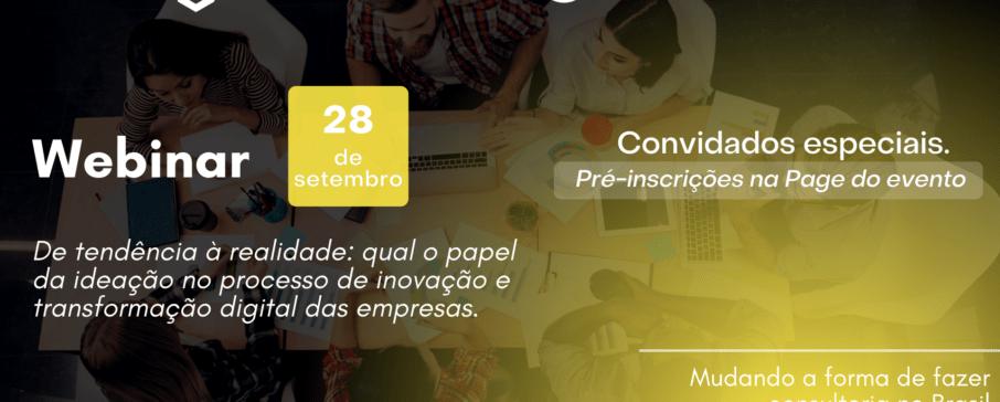 Webinar Inovação aberta 28/09, inédito!